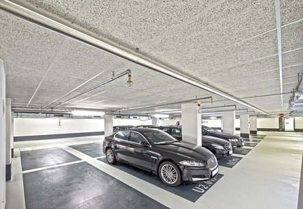 Fire safe finishing for parking garages